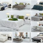 Bed 3- Giường ngủ  3ds max