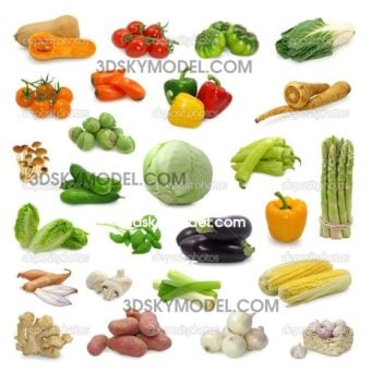 Vegetable_Collection -Dowload model free- Rau