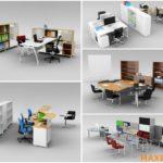 Model đồ nội thất văn phòng 3dmax Office furniture 4