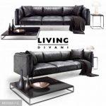 Divanci  Living divani leather rod sofa 3dmodel  650