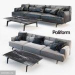 Plexform  TRIBECA  TBDI315 3ds sofa 3dmodel  478
