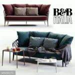 B&B italya ERICA BlueRed sofa 3dmodel  544