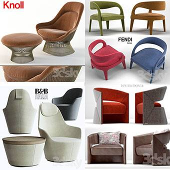 Sell Armchair vol1 2018 set 3dmodel
