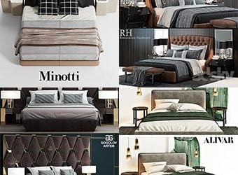 Sell Bed vol1 2018 set 3dmodel