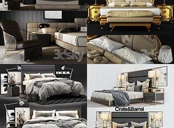 Sell Bed vol2 2018 set 3dmodel