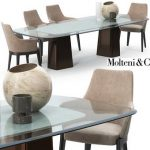 Molteni & C mayfair set Table & chair 326
