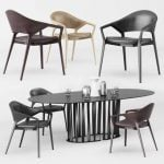Ico Cassina Table & chair 340
