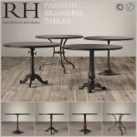 table rh brasserie corona 3dmodel 175