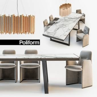 Poliform GUEST  OPERA Table & chair 138