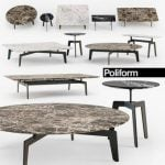 Poliform TRIBECA coffee table 3dmodel 149