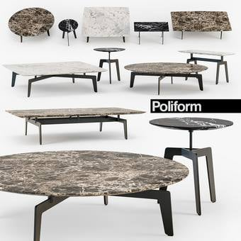 Poliform TRIBECA coffee table 3dmodel download free 149