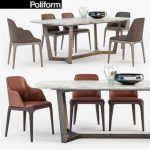 Poliform GRACE  CONCORDE  set Table & chair 224