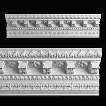 Decorative plaster  Trang trí thạch cao download 3dmodel free  363