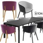 Ton arm split Table & chair 244