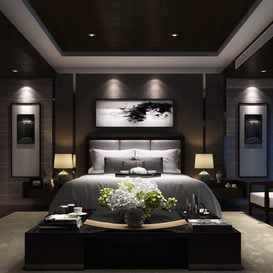 3d66 Bed room  B004-post-modern-style  download  free  3dsmax