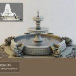 Classic Fountain Đài phun nước cổ điển  Download -3d Model - Free 3dmodels-  Maxbrute  3