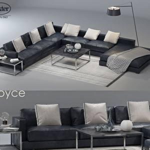 divan baxter joyce 2 sofa 3dmodel  635