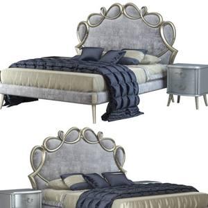 CorteZari Letti Matrimoniali PAPILLON bed corona and vray 3dskymodel -Download 3dmodel- Free 3d Models   555