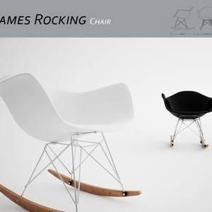 Eames Rocking Chair 3dskymodel -Download 3dmodel- Free 3d Models   46