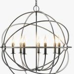 FOUCAULT S IRON ORB CHANDELIER RUSTIC IRON MEDIUM Ceiling light  Đèn trần 100