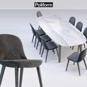 Poliform MAD DINNING Table & chair 61