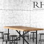 Restoration Hardware Table & chair 63