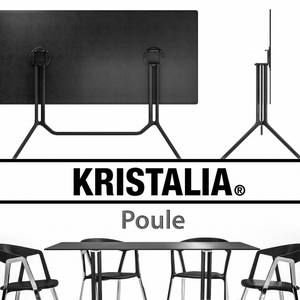 Kristalia Poule and Compas Table & chair 89