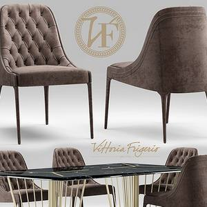 vittoriafrigerio Poggi High capitonne Table & chair 130