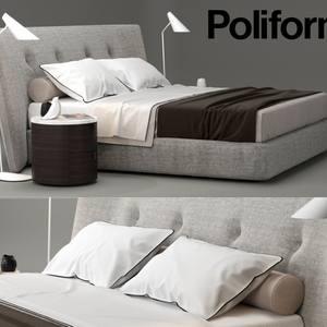 Poliform Rever bed 3dskymodel -Download 3dmodel- Free 3d Models   376