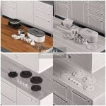 Kitchen Tủ bếp - Download 3d Model - Free 3dmodels  Maxbrute 4