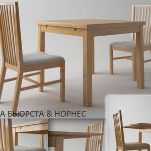 Ikea bursta Table & chair 12