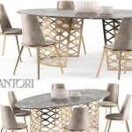 Isidoro Aurora set Table & chair 280