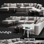 Swan Hills sofa 3dmodel  606