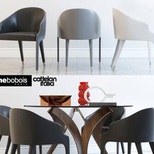 Cortina Cattelan italia STEEPLE BRIDGE Roche bobois Table & chair 310