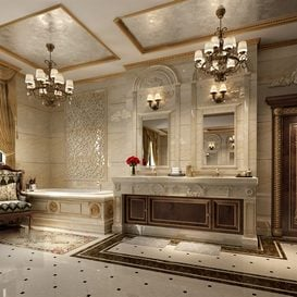 3d66 bath-room-D001-european-style -Download  free -3d Models Maxbrute