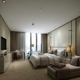 3d66 bedroom-hotel-A005-modern-style
