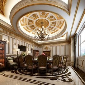 3d66 dinning-room-D001-european-style -Download  free -3d Models Maxbrute