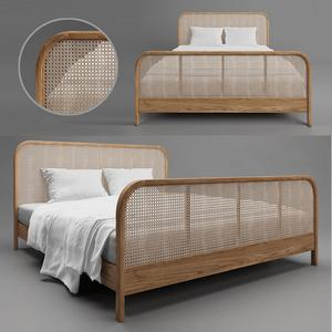 Cane bed 2 3d model Buy Download Maxbrute Furniture Visualization