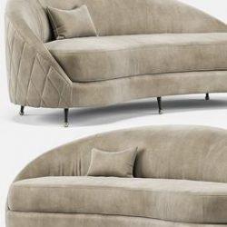 Nadine Sofa P118 3d model Download Maxbrute Furniture Visualization