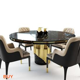 Charla chair Dining Set 31 3d model Download Maxbrute Furniture Visualization