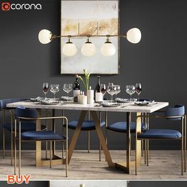 Dining Set 118 3d model Download Maxbrute Furniture Visualization