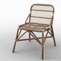 Garden wicker chair 3d model Download Maxbrute Furniture Visualization