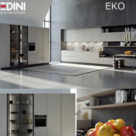 Kitchen Pedini Eko set2 v-ray 3d model Download Maxbrute Furniture Visualization