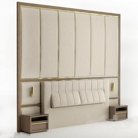 Headboard N9 3d model Download Maxbrute Furniture Visualization