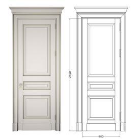 Classic door with cornice 3d model Download Maxbrute Furniture Visualization