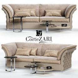 CorteZARI TIAGO Sofa 3d model Download Maxbrute Furniture Visualization
