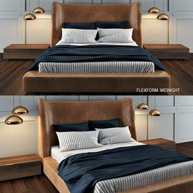 Flexform MIDNIGHT 3d model Download Maxbrute Furniture Visualization