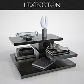 Lexington EVORA SQUARE COCKTAIL TABLE 3d model Download Maxbrute Furniture Visualization