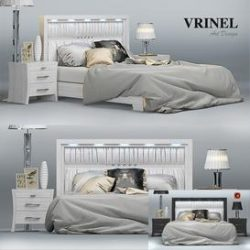 Vrinel Forever LETTO PANNELLO 3d model Download Maxbrute Furniture Visualization