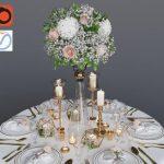 Wedding table setting 1
